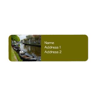ネザーランド運河及びボート ラベル