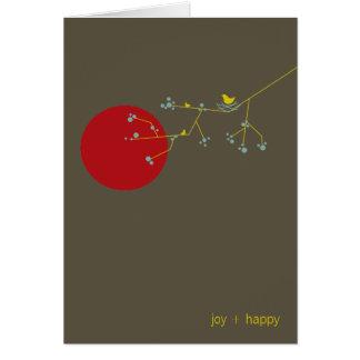 ネスティング鳥及び家族のベビーはメッセージカード感謝していしています カード