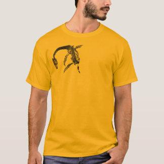 ネス湖モンスター/Plesiosaurの化石のTシャツ Tシャツ