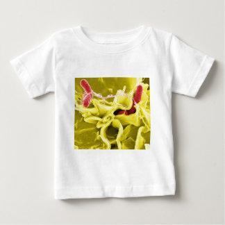 ネズミチフス菌を示す電子顕微鏡写真 ベビーTシャツ