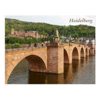 ネッカー川上のハイデルベルクの眺め ポストカード