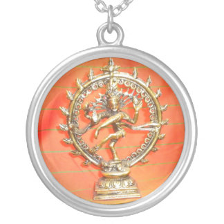 ネックレスのオレンジヒンディーの女神の神愛ノウサギ シルバープレートネックレス