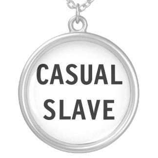 ネックレスのカジュアルな奴隷 シルバープレートネックレス