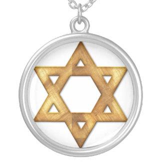ネックレスのデザイン金ダビデの星 シルバープレートネックレス