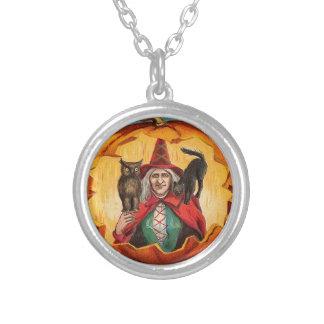 ネックレスのヴィンテージのハロウィンの魔法使いのイメージ シルバープレートネックレス