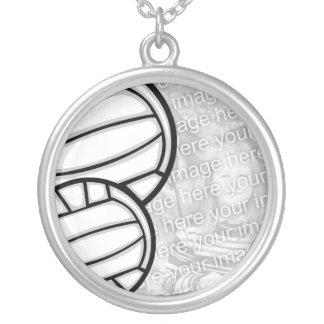 ネックレスの写真テンプレート-バレーボール シルバープレートネックレス