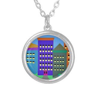 ネックレスの都市芸術 シルバープレートネックレス