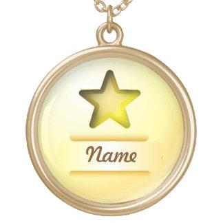 ネックレスアイコン金ゴールドの星 ゴールドプレートネックレス