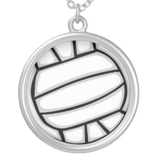ネックレス-バレーボール シルバープレートネックレス