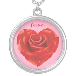 ネックレス: 純銀製のプレートのバレンタインデー シルバープレートネックレス