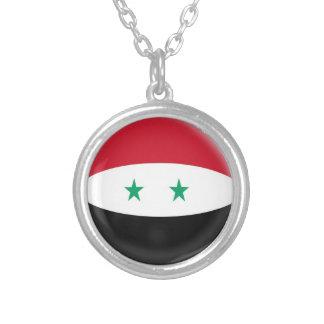 """ネックレス + 18""""チェーンシリアのシリア人の旗"""