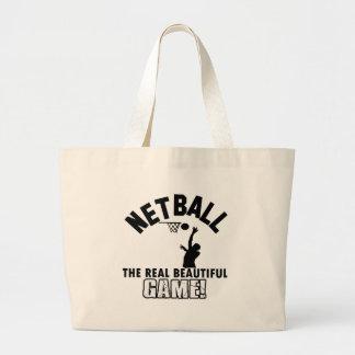 ネットボールのデザイン ラージトートバッグ