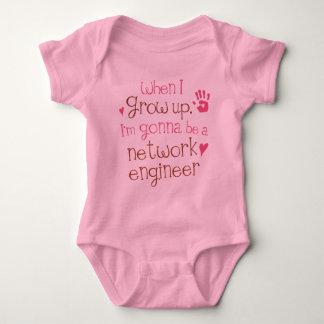 ネットワークエンジニア(未来)の幼児ベビーのTシャツ ベビーボディスーツ