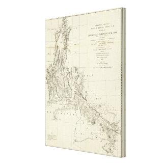ネバダおよびアリゾナの地形図 キャンバスプリント