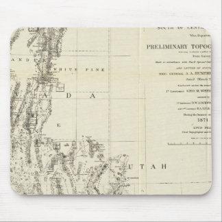 ネバダおよびアリゾナの地形図 マウスパッド