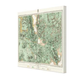ネバダの土地分類の地図 キャンバスプリント