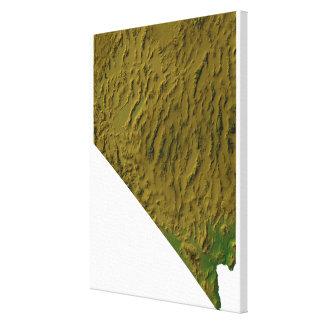 ネバダの地図 キャンバスプリント