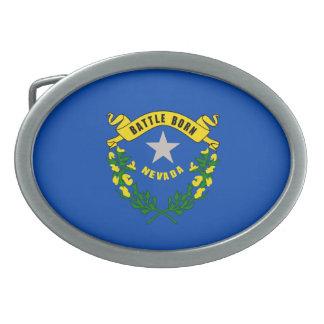 ネバダの州の旗のデザイン 卵形バックル