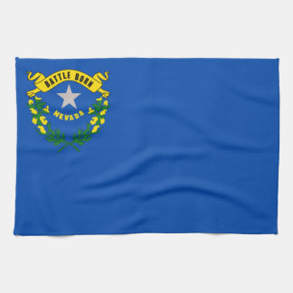 ネバダの州の旗統一されたなアメリカ共和国の記号 キッチンタオル