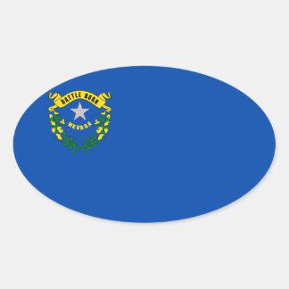 ネバダの州の旗 楕円形シール