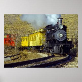 ネバダの州の鉄道博物館の列車#25 ポスター
