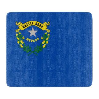 ネバダの旗を持つ小さいガラスまな板 カッティングボード