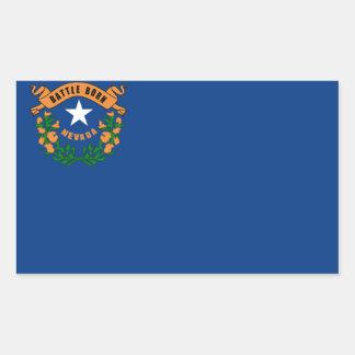 ネバダの旗 長方形シール