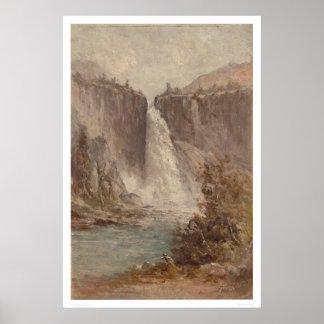 ネバダの滝、ヨセミテ(1252年) ポスター