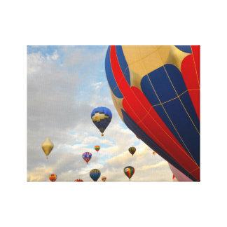 ネバダの熱気の気球の競争 キャンバスプリント