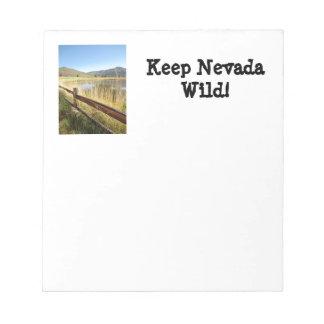 ネバダの荒野のメモ帳 ノートパッド