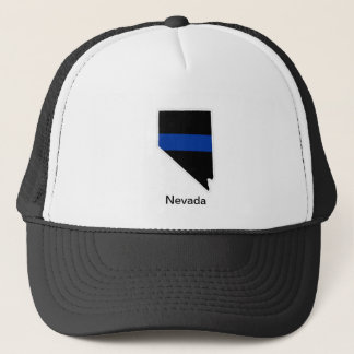 ネバダの薄いブルーライントラック運転手の帽子 キャップ