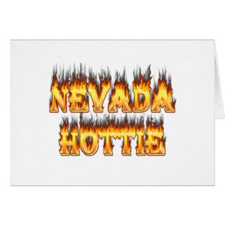 ネバダのhottieの火および炎 カード