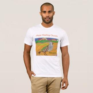 ネバダ山のQauilの鳥のクリスチャンのTシャツ Tシャツ
