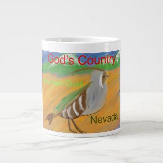 ネバダ山ウズラのキリスト教のコーヒー・マグのコップ ジャンボコーヒーマグカップ