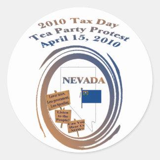 ネバダ税日のお茶会の抗議 ラウンドシール