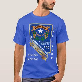 ネバダ150th記念日の前部背部暗闇だけ tシャツ