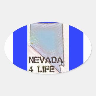"""""""ネバダ4生命""""の州の地図のプライドのデザイン 楕円形シール"""