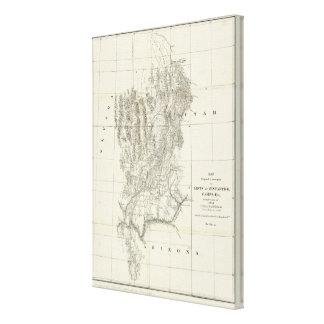 ネバダ、ユタおよびアリゾナの地図 キャンバスプリント