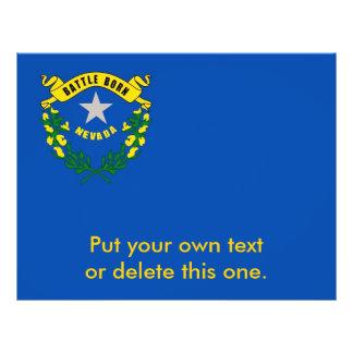 ネバダ、米国の旗が付いているフライヤ チラシ
