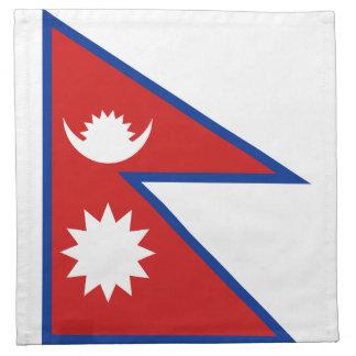 ネパールの旗のナプキン ナプキンクロス