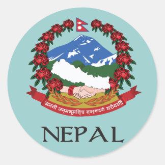ネパールの紋章付き外衣 ラウンドシール