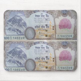 ネパールの銀行券 マウスパッド