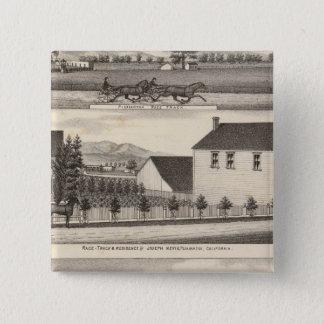 ネビスの緑の住宅、農場 5.1CM 正方形バッジ