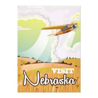 ネブラスカのヴィンテージ旅行ポスター キャンバスプリント