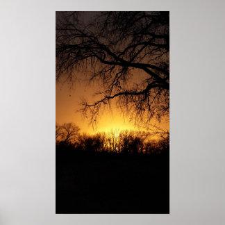 ネブラスカの夏の日没 ポスター