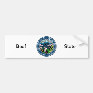ネブラスカの州のシールおよびモットー バンパーステッカー