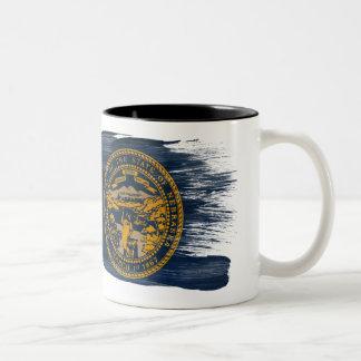 ネブラスカの旗のマグ ツートーンマグカップ