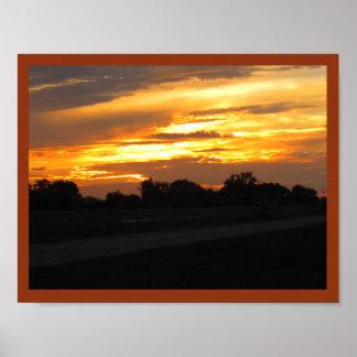 ネブラスカの日没 ポスター