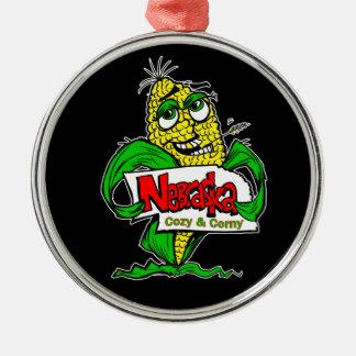 ネブラスカの漫画のトウモロコシ穂軸 メタルオーナメント
