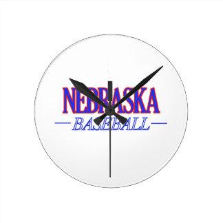 ネブラスカの野球のデザイン ラウンド壁時計